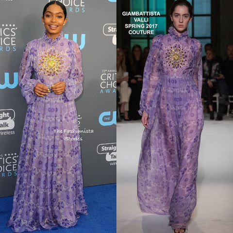 ic:Tabitha Webb | Yara Shahidi in Giambattista Valli Couture at the 23rd Critics' Choice Awards