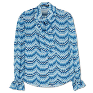 Flossie in Blue Chevron