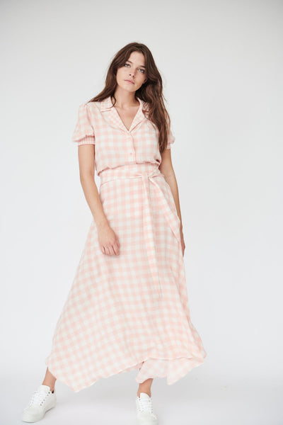 Iris Skirt in Pink Gingham