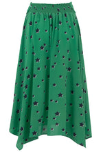 Load image into Gallery viewer, Lonestar Skirt in Green and Navy Star Print