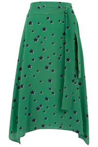 Lonestar Skirt in Green and Navy Star Print