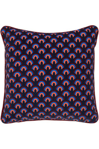 Rainbow Arch Cushion in Deep Blue