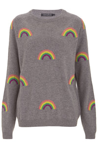 Magic Rainbow Grey Cashmere Jumper