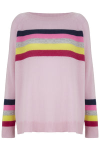 Rainbow Stripes in Pink Cashmere