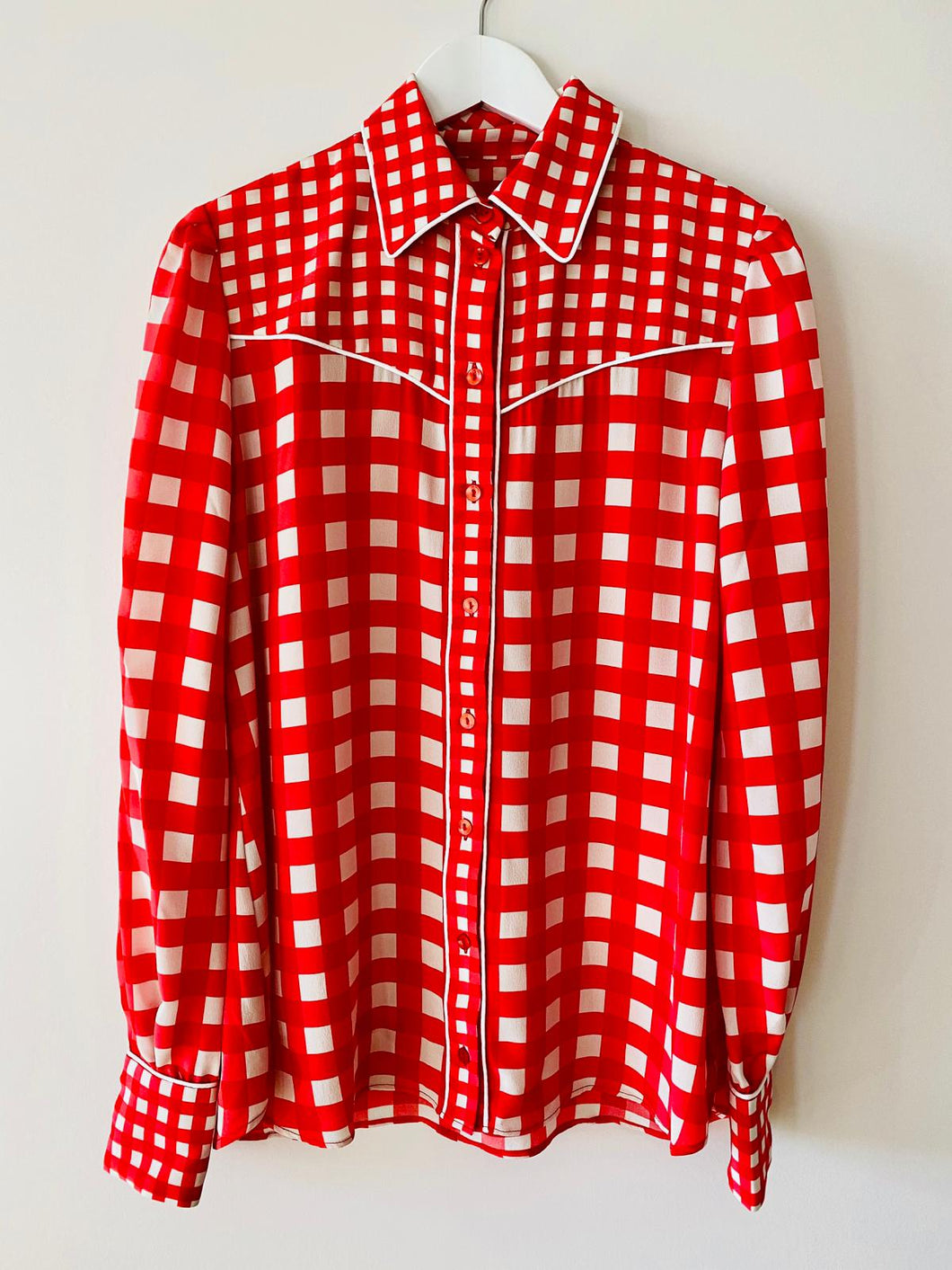 Western Shirt In Red Gingham