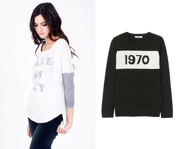 Sol Angeles Make My Day Long-Sleeved T-Shirt; Bella Freud 1970 merino wool jumper