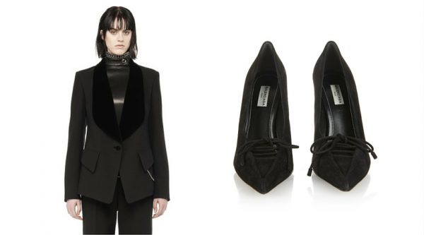 Runway Tailored Jacket with Shawl Collar, Alexander Wang; All Time Low pumps, Balenciaga