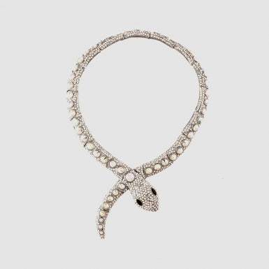 Crystal Snake Wrap Necklace, Butler & Wilson