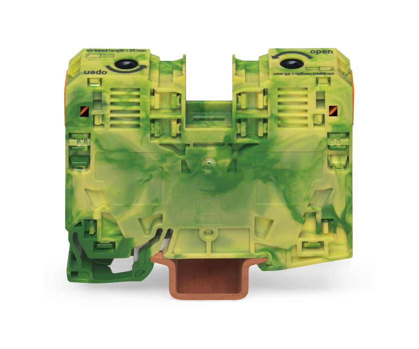 Wago 285-137 125A Terminal Block - Green/Yellow