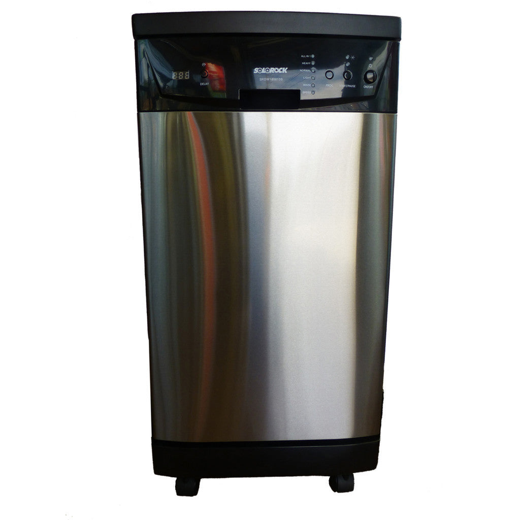 Solorock 18 Quot Portable Dishwasher Deluxe Stainless Steel