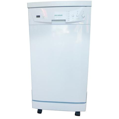 "18"" Portable Dishwasher - White (Stainless Steel Tub)"