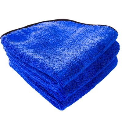 Fluffy Blue Silk Lined Microfiber 16x16 (3-Pack)