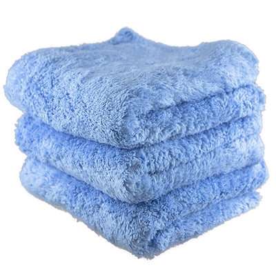 Fluffy Finish Blue Microfiber 16x16 (3-Pack)