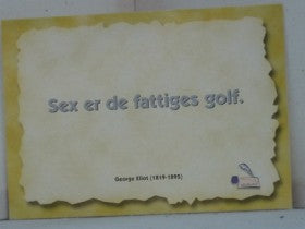 Sex er de fattiges golf