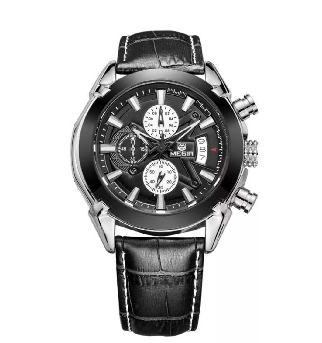 Megir Chronograph Black