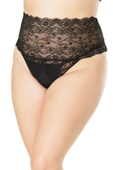 BOOTAY Devine- Plus Size Crotchless Panties