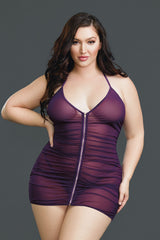 Slither Into This! Plus Size Purple Lingerie