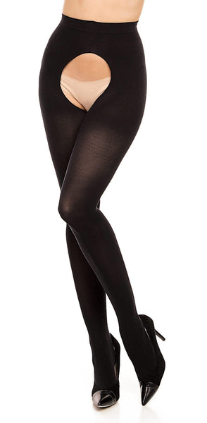 Open Up Wide!! Plus Size Opague Stockings
