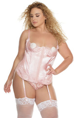 Fabulous In Pink- Plus Size Pink Bustier