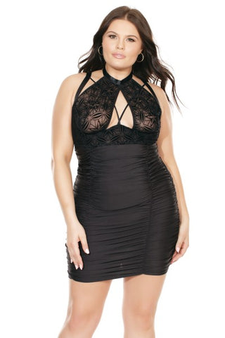 Don't Fall Too Hard! Plus Size Black Dress