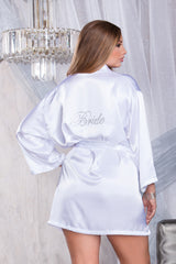 SHINE BRIDE SHINE-Sexy Satin Bride Robe