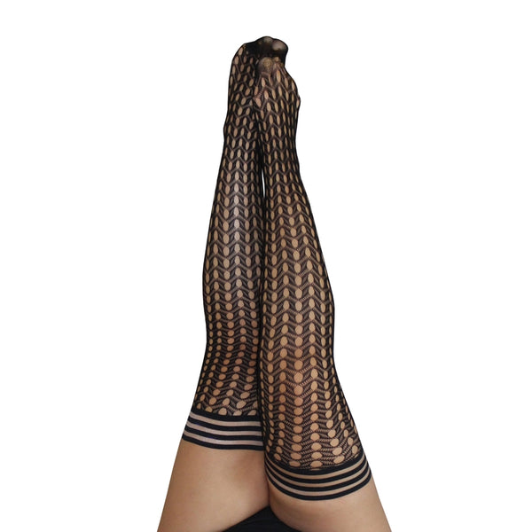 Mighty Fine Mimi- Plus Size Textured Stockings