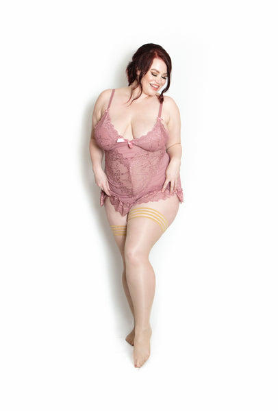 Vivacious Vanessa- Plus Size Nude Stockings