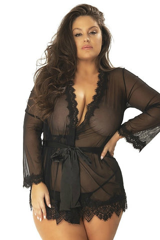 plus size robe