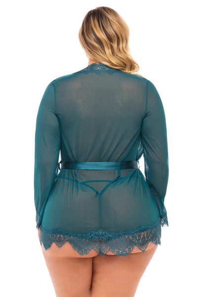 Dive into Me! Plus Size Sheer Robe