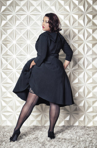 Lucious Lois- Plus Size Seamed Stockings
