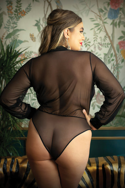Sophisticated, Classy & HORNY!! Plus Size Sheer Bodysuit