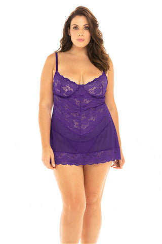 Come & See What Mama's Got! Sexy Purple Lingerie
