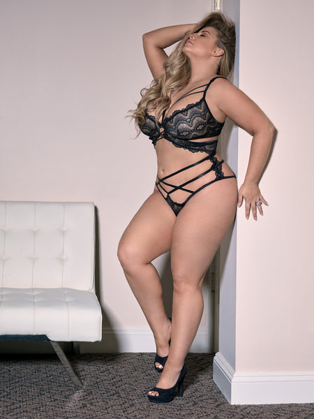 Devour Me!!! Plus Size Bralette Set