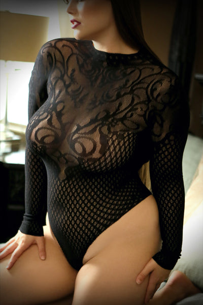 Wicked Game - Sexy Black Bodysuit