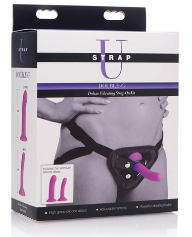 Strap it On!!! Strap U Double G Deluxe Vibrating Strap-On Kit