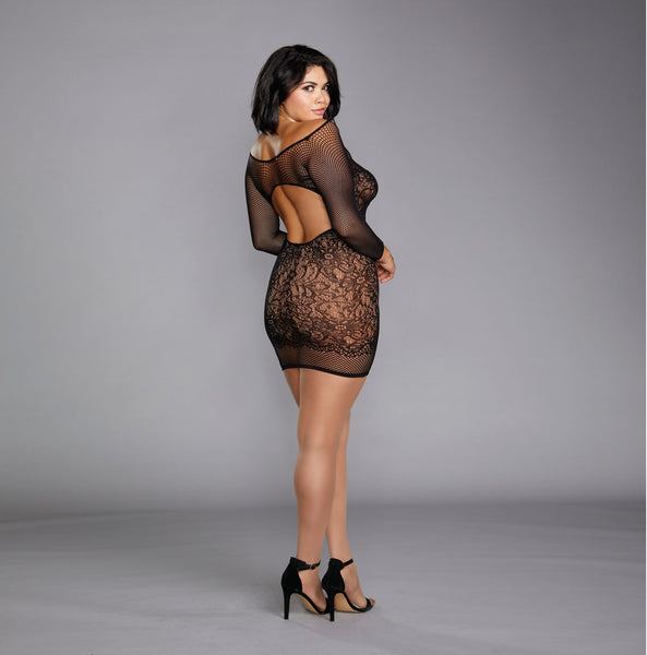 It's Like THAT Now?- Plus Size Fishnet Lingerie