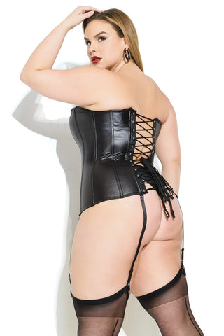Wet & Dangerous! Plus Size Matte Wet Look Bustier