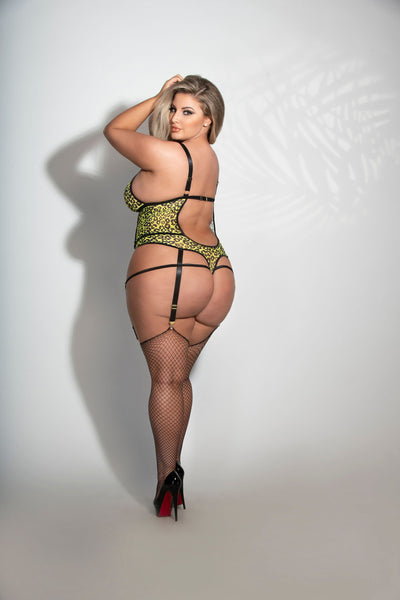 Pullin' Shade! Plus Size Cage Teddy