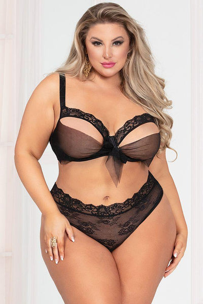Plus Size Open Cup Lingerie