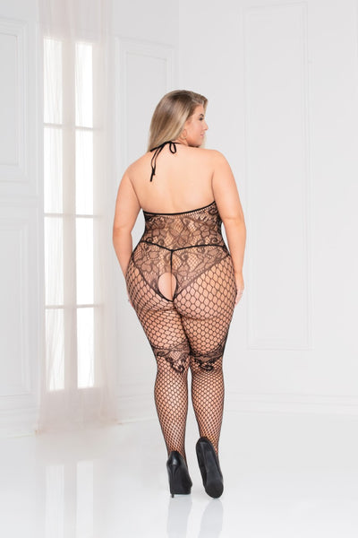 Easy Access- Plus Size Fishnet Bodystocking