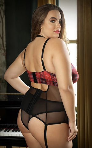 Sexy Grunge Chick- Plus Size Plaid Lingerie