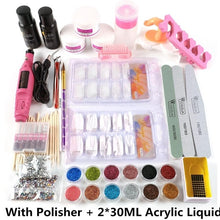 Load image into Gallery viewer, COSCELIA Acrylic Nail Kit Set Of Milling Cutters For Manicure Gel Varnishes Set Nail Art Decorations All For Manicure Nail Kit
