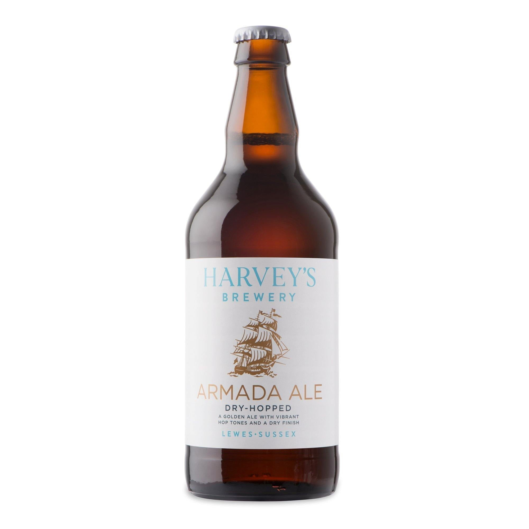 Harvey's Brewery-Armada Golden dry hopped Ale 500ml bottle