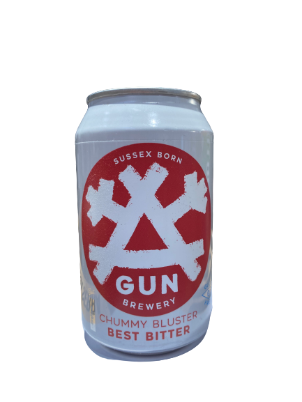 Gun Brewery Chummy Bluster - Best Bitter-red can