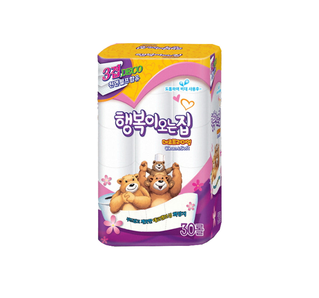 Happiness is Coming Home Toilet Tissue 3Ply, Pack of 30 (23m)