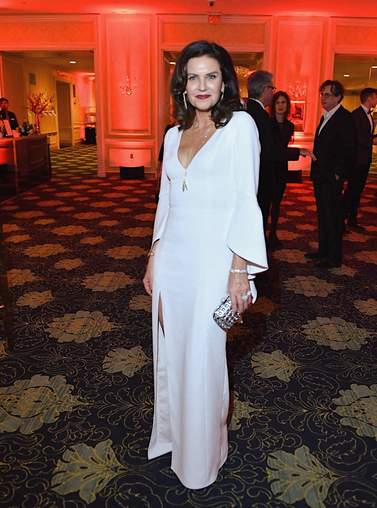 Wendy Crewson carries Crystal Clutch