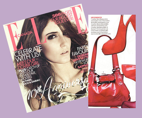Red all over! Elle features our newest bag  – Jeanne Lottie