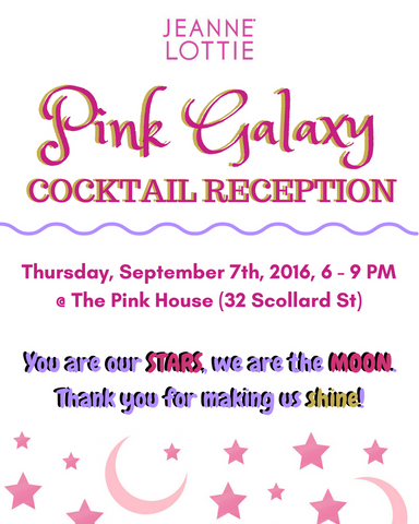 Pink Galaxy Cocktail Party – Jeanne Lottie