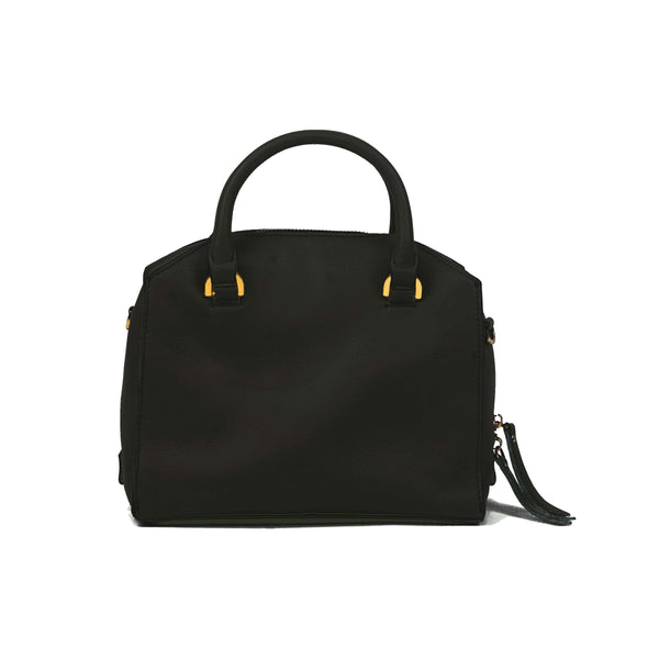 RYLIE Satchel - Black - Jeanne Lottie Handbags Canada