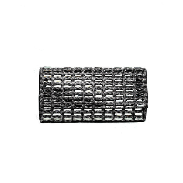 CIA Crystal Clutch - Black - Jeanne Lottie Handbags Canada